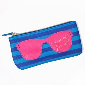 """I Have Eyes For You"" glasses case zip clutch bag"